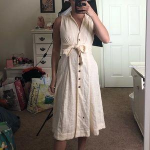 NWOT Free People Button-Up Sleeveless Midi Dress